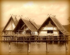 Once upon a Time: Living over the water - Lake Constance, Germany (Batikart ... handicapped ... sorry for no comments) Tags: wood travel bridge vacation people lake window archaeology water museum sepia architecture canon germany landscape geotagged deutschland see spring holidays wasser europa europe village urlaub may bridges mai architektur 2008 bodensee holz landschaft shanties vacanze bronzeage frhling stoneage canonpowershot cottages a610 f50 brcken htten badenwrttemberg lakeconstance siedlung pfahlbauten canonpowershota610 steinzeit unteruhldingen archlogie 100faves 50faves 35faves bronzezeit lakedwelling viewonblack batikart pfahlbaumuseum holzhtten saariysqualitypictures bestcapturesaoi elitegalleryaoi