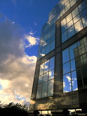 At the Edge of Day Dreams (Caneles) Tags: blue brussels sky reflection building window vub windowreflection etterbeek platinumphoto lifebeautiful flickrlovers creattivit