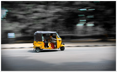 .Pan.Auto. (.krish.Tipirneni.) Tags: auto road india yellow desi ou hyderabad panning bharat osmania andhrapradesh rktobjects