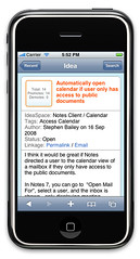 iPhone access for IdeaJam