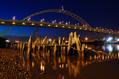 Fremont Bridge (Jon Asay ) Tags: bridge night oregon river portland nikon fremont 1855mm bridgetown willamette  d40