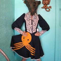 octo/oktoberfest dress (~aorta~) Tags: vintage dress octopus applique aorta