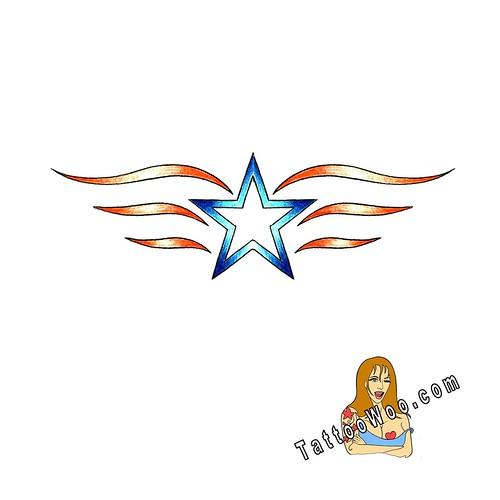 Free Star tattoo design from Tattoo