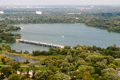 Overlooking Lake Nokomis and the northern part of Nokomis East - Credit to smcgee via Flickr