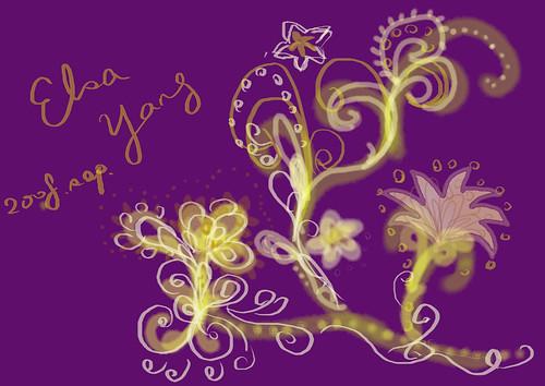 紫色背景花