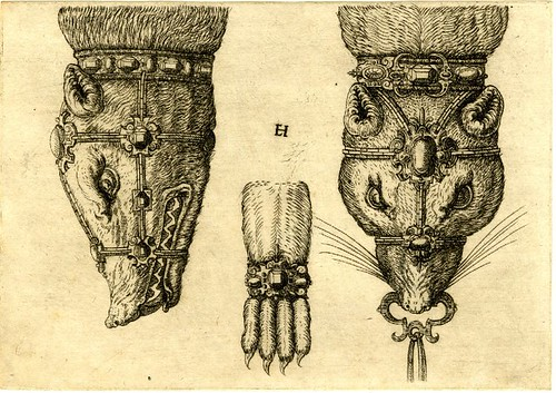 Jewellery design details by Hornick, 1562