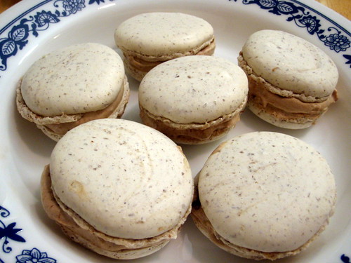 Nutella cream macarons