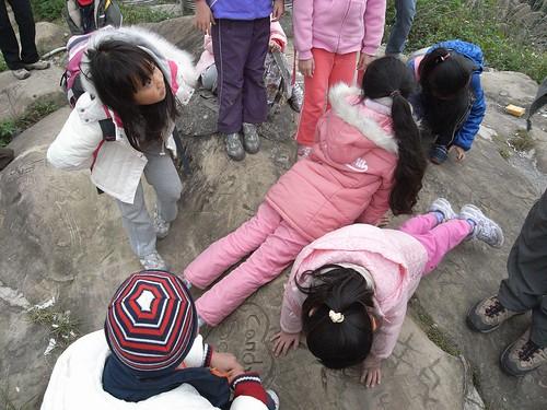 你拍攝的 16孩子示範老虎稜線。