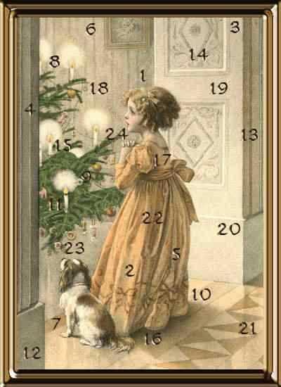 advents calendar with girl