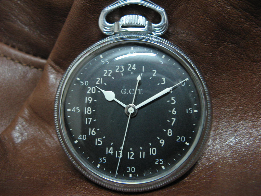 WW II Hamilton GCT  4992B 24hr  Military Pocket watch