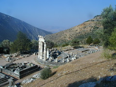The Tholos Temple of Delphi, Sanctuary of Athena, Pronaia