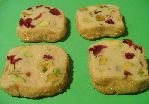 Pistachio Cranberry Icebox Cookies Elly Says Opa