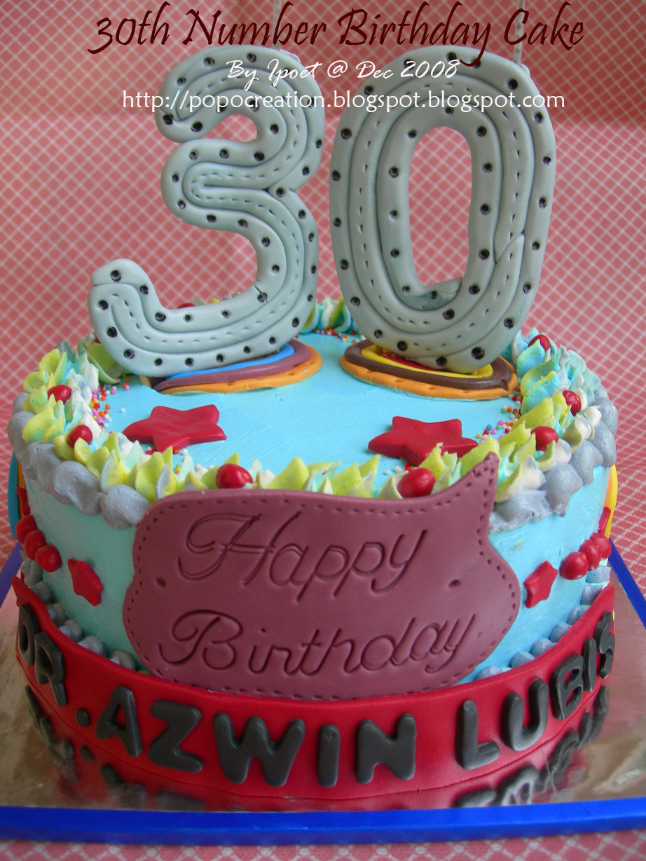 30th Number Birthday Cake