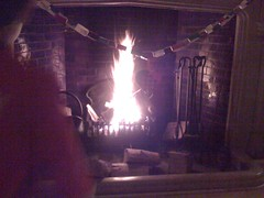 A not-so-good photo of our fireplace