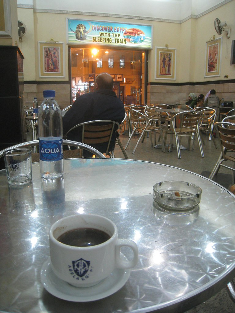 Thick, dark Turkish coffee - Cairo, Egypt