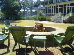 Firepit, Inn at Palmetto Bluff