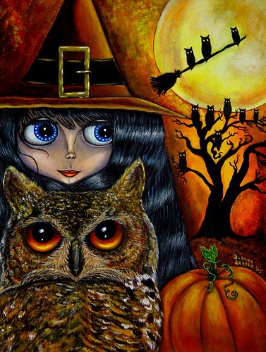 Halloween Owl Witch by Blonde Blythe