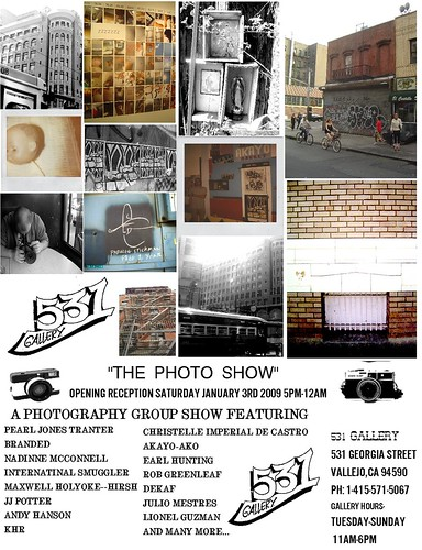 """531 Gallery Presents """"The Photo Show"""" A photography Based Group Show Opening Reception Saturday Januray 3rd 2009 From 5pm-12am"""