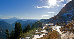 LPT_0275 (Lewis in Washington) Tags: hiking mountrainier 2008 michèle mountadams scrambling plummerpeak
