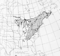 eastern hemlock range map