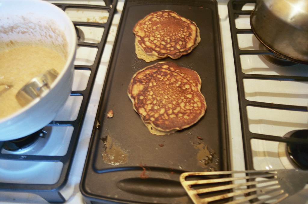pancakes on my new gas griddle