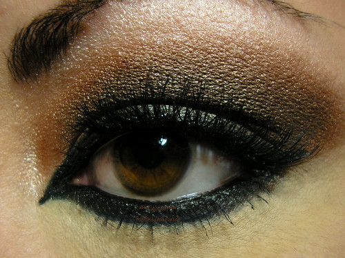 Smoky Arabic Eye Closeup
