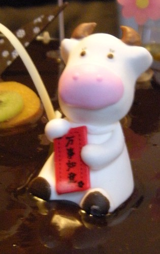 little OX candy on B'day cake 2 by you.