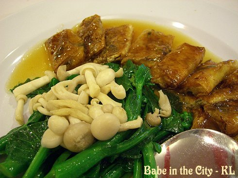 Beancurd Skin Parcels with HK Choy Sum and Mushrooms (RM28)