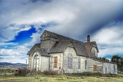 Weathered church (kern.justin) Tags: travel church nikon idaho d100 hdr kernjustin