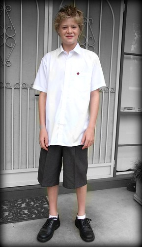 Ciaran's First Day of Secondary School