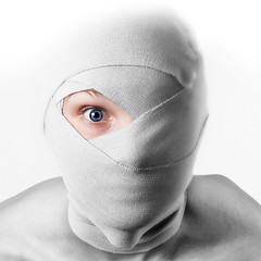 CD-cover (Swesebbe) Tags: eye photoshop model sweden cd cdcover bandage falun strobist sebastianekman swesebbe