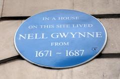 Photo of Nell Gwynne blue plaque