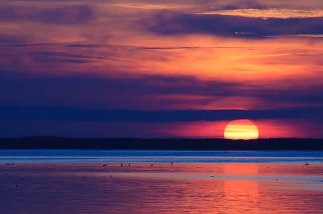 Sunset on the Müritz, Mecklenburg-Vorpommern, Germany