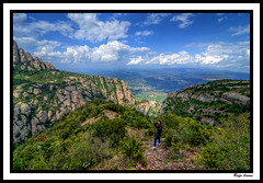 Muntanyes de Montserrat (Rafa llanes) Tags: atardecer montserrat catalunya iglesias hdr moreneta mywinners