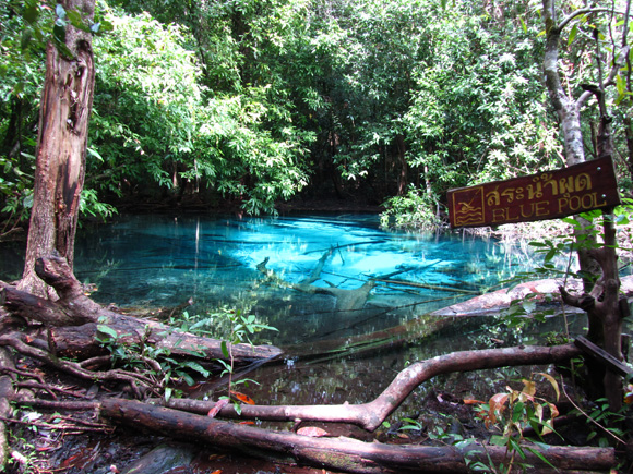 Blue Pool in Krabi, Thailand
