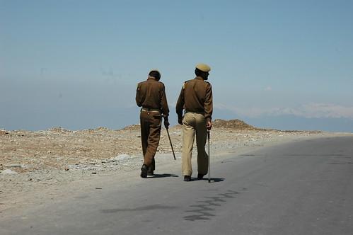 Police in Kashmir