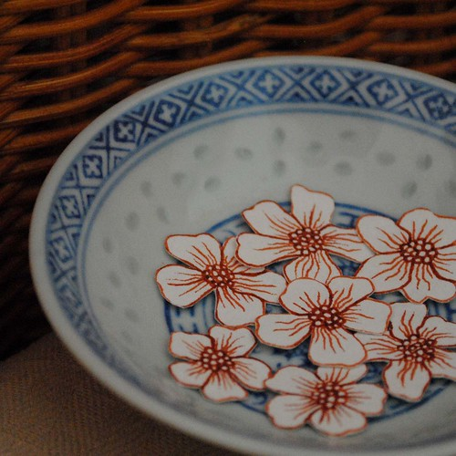 flowers in bowl