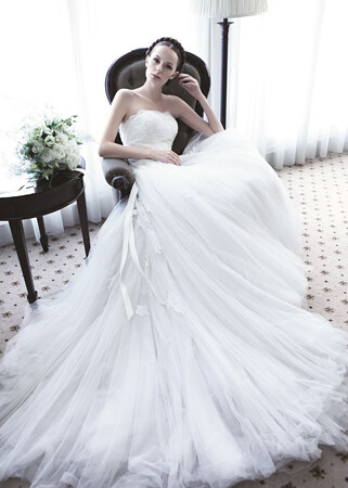 Lusan Mandongus - Strapless, washington dc, bridal gowns,love couture bridal