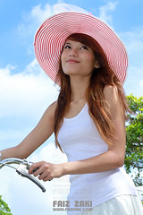 Attractive Young Asian Woman with Bicycle (Faiz) Tags: road park camera trip travel trees summer portrait people woman holiday green nature girl beautiful beauty smile field grass bike bicycle sport lady female forest relax fun happy person countryside healthy looking view ride adult exercise outdoor young lifestyle health cycle sit activity fitness having enjoying fit active caucasian