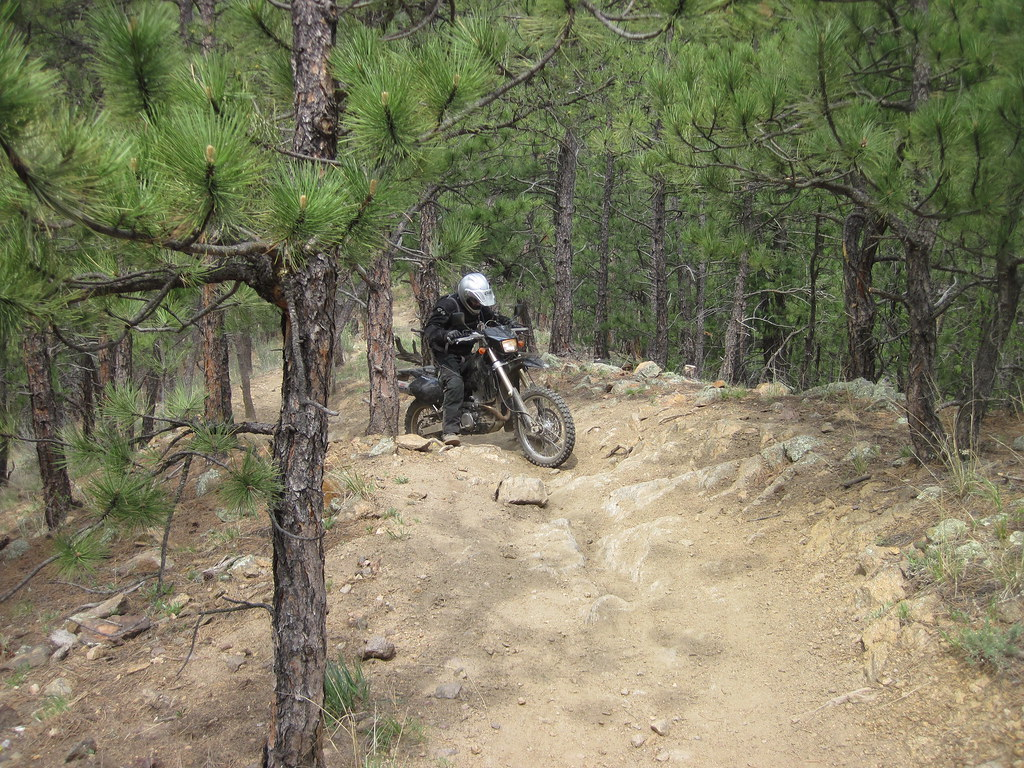 Jay working some single track