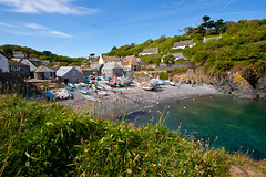 View of Cadgwith village and harbour