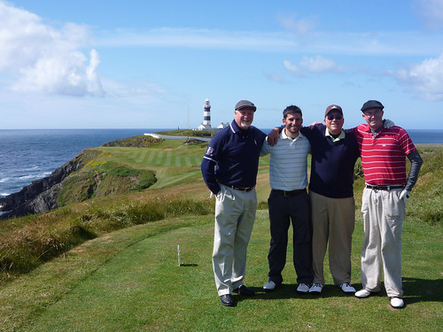 Four golfers at Old Head