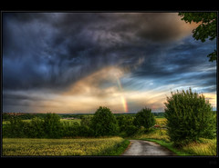 Somewhere under the rainbow (Kemoauc) Tags: sky rainbow nikon hdr d90 nikond90 kemoauc