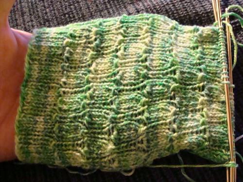 Undulating Rib sock