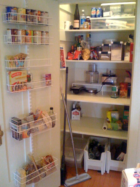kitchen cure - pantry after decluttering
