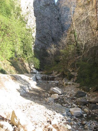 Ingresso dell'orrido il fiume rocciamelone