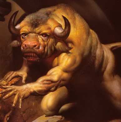 Minotaur - A Painting by Boris Vallejo