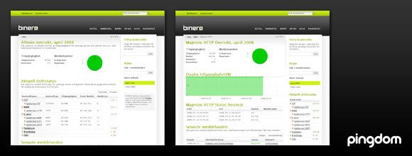 Web host status page