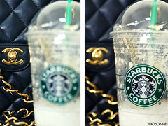(Weda3eah*) Tags: black green by gold milk sugar caramel chanel handbag qatar starbuck frab weda3eah