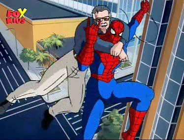 Stan lee en dibujos animados de Spiderman